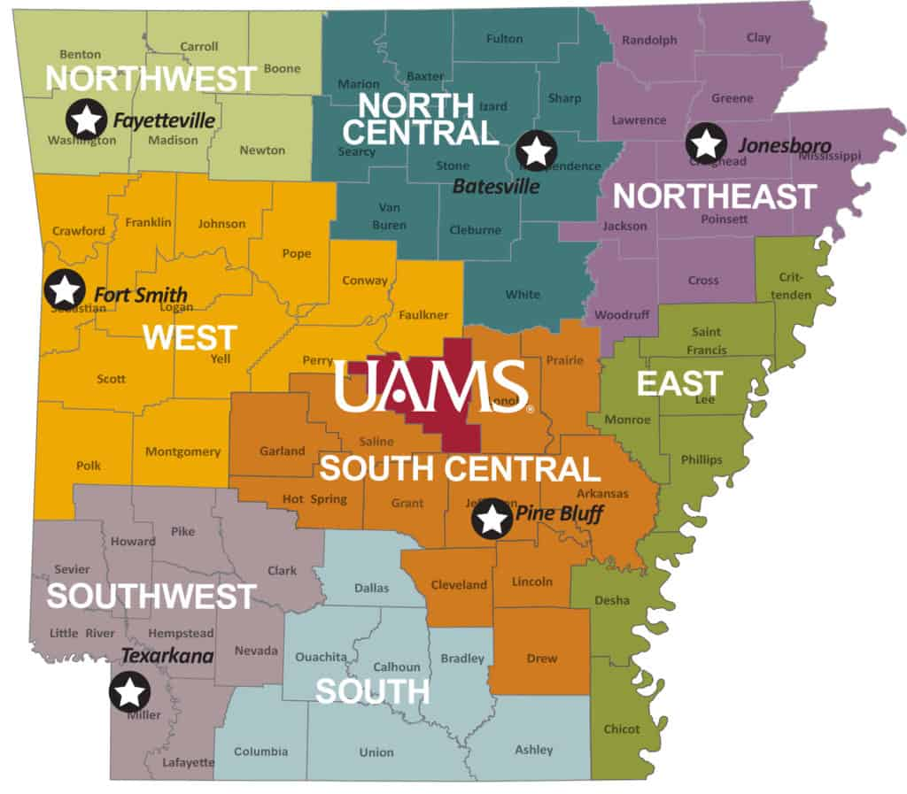 Clerkship Site Location Map
